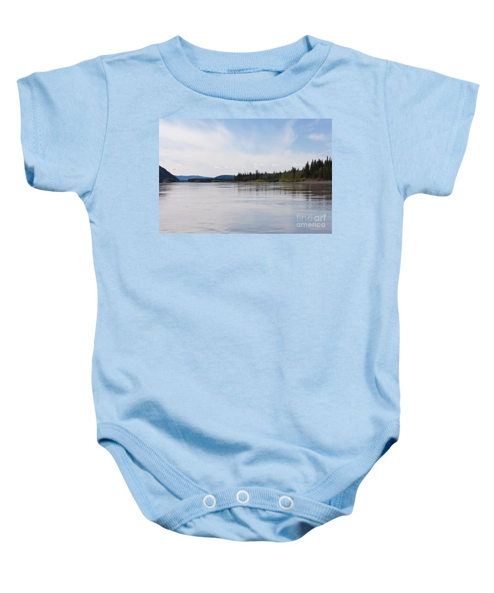 Alaska Baby Onesie featuring the photograph Taiga Hills At Yukon River Near Dawson City by Stephan Pietzko