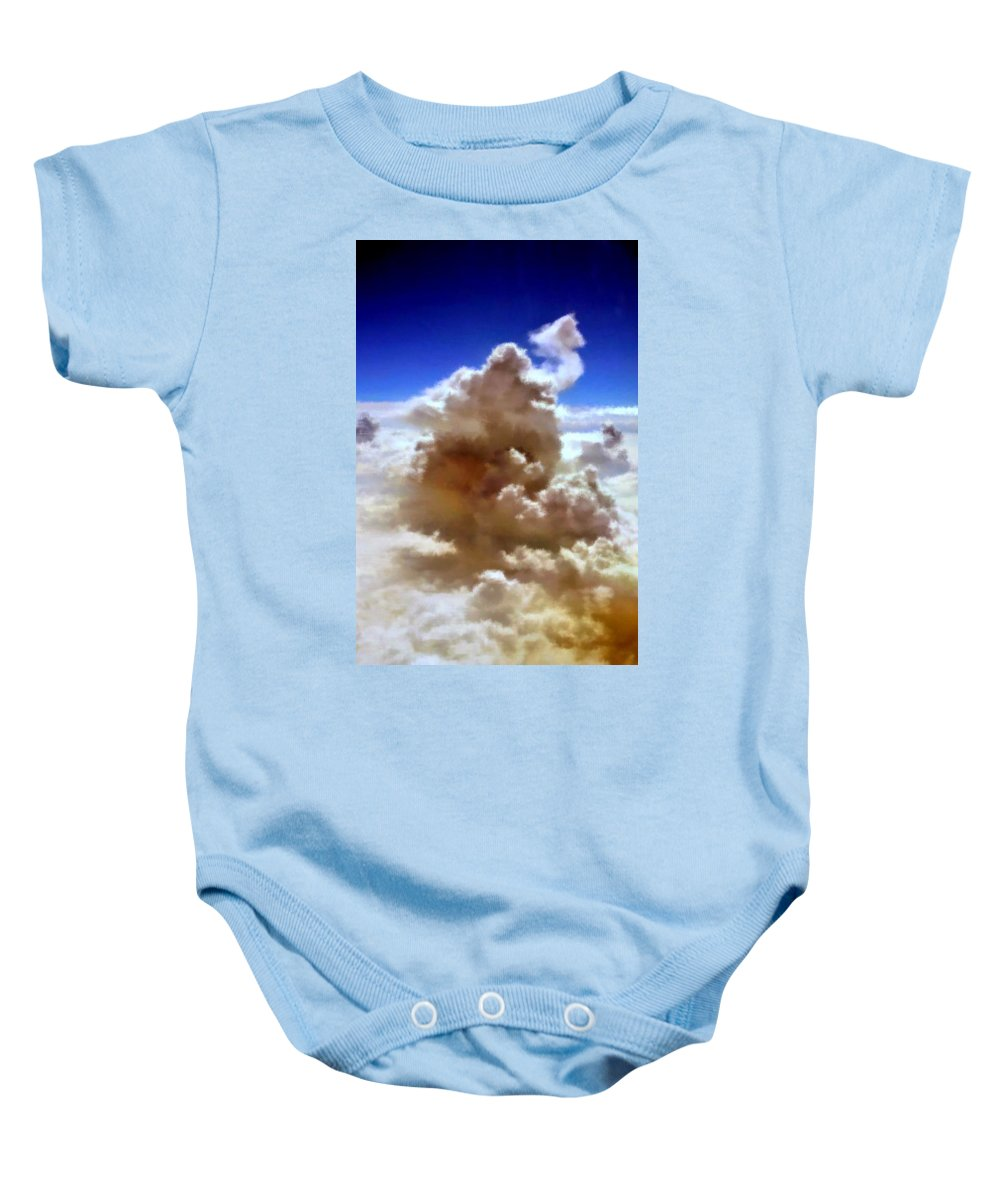 Heaven Baby Onesie featuring the painting The Cloud by Bruce Nutting
