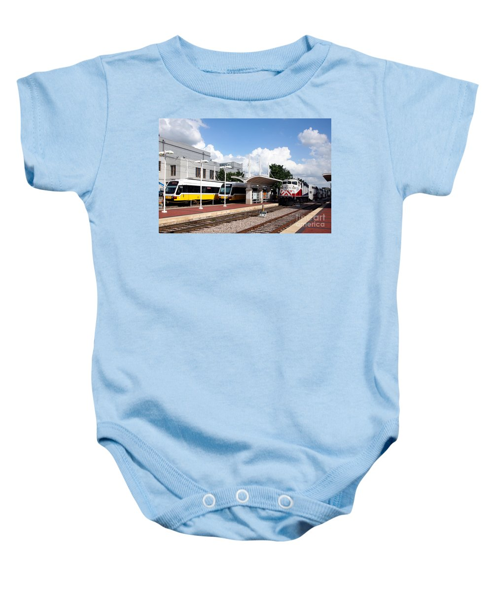 Dallas Baby Onesie featuring the photograph Union Station Dallas Texas by Bill Cobb