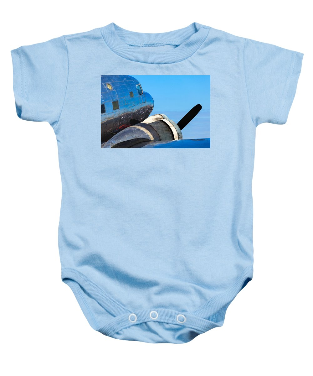 1930s Baby Onesie featuring the photograph Vintage Airplane by Raul Rodriguez