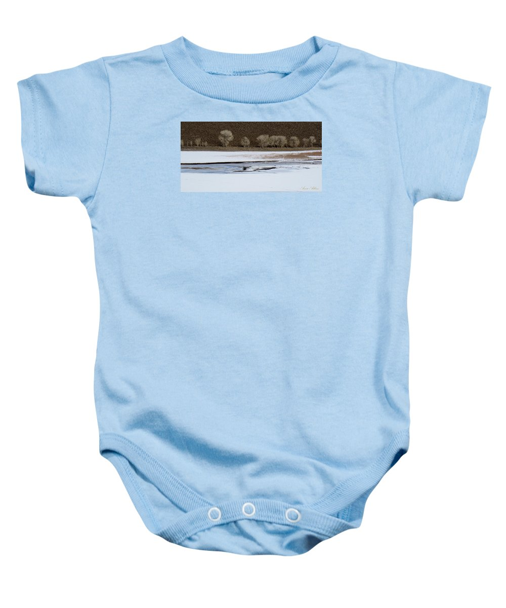 Winter Baby Onesie featuring the photograph Winterscape No. 2 by Annie Adkins
