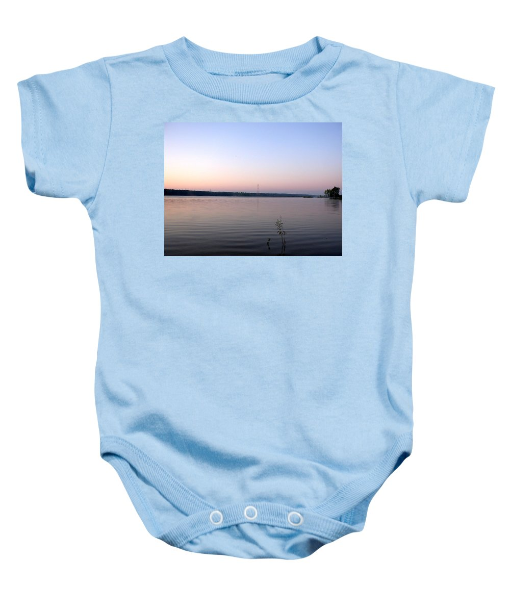 Lake Baby Onesie featuring the photograph 1220c by Kimberlie Gerner