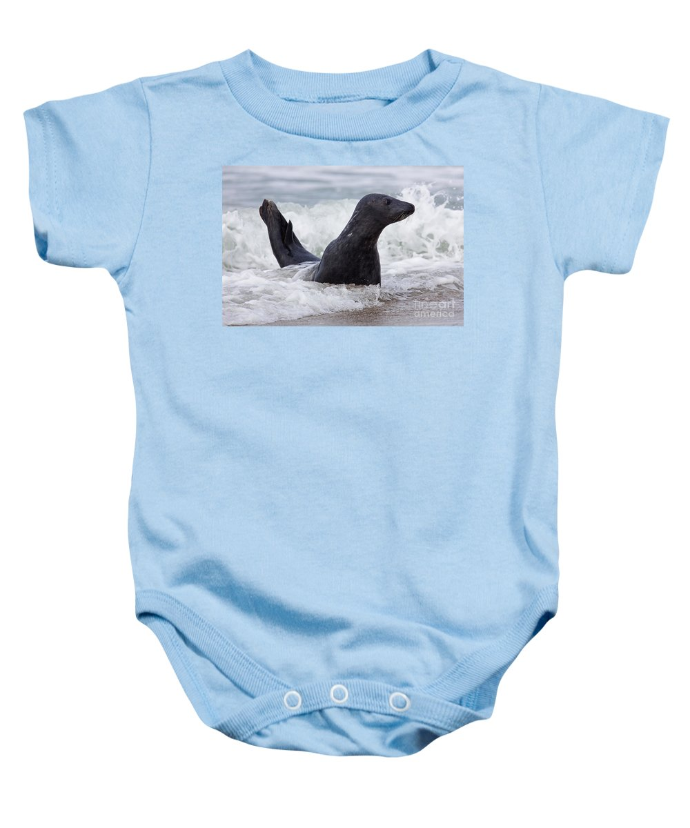 Atlantic Baby Onesie featuring the photograph 130201p124 by Arterra Picture Library