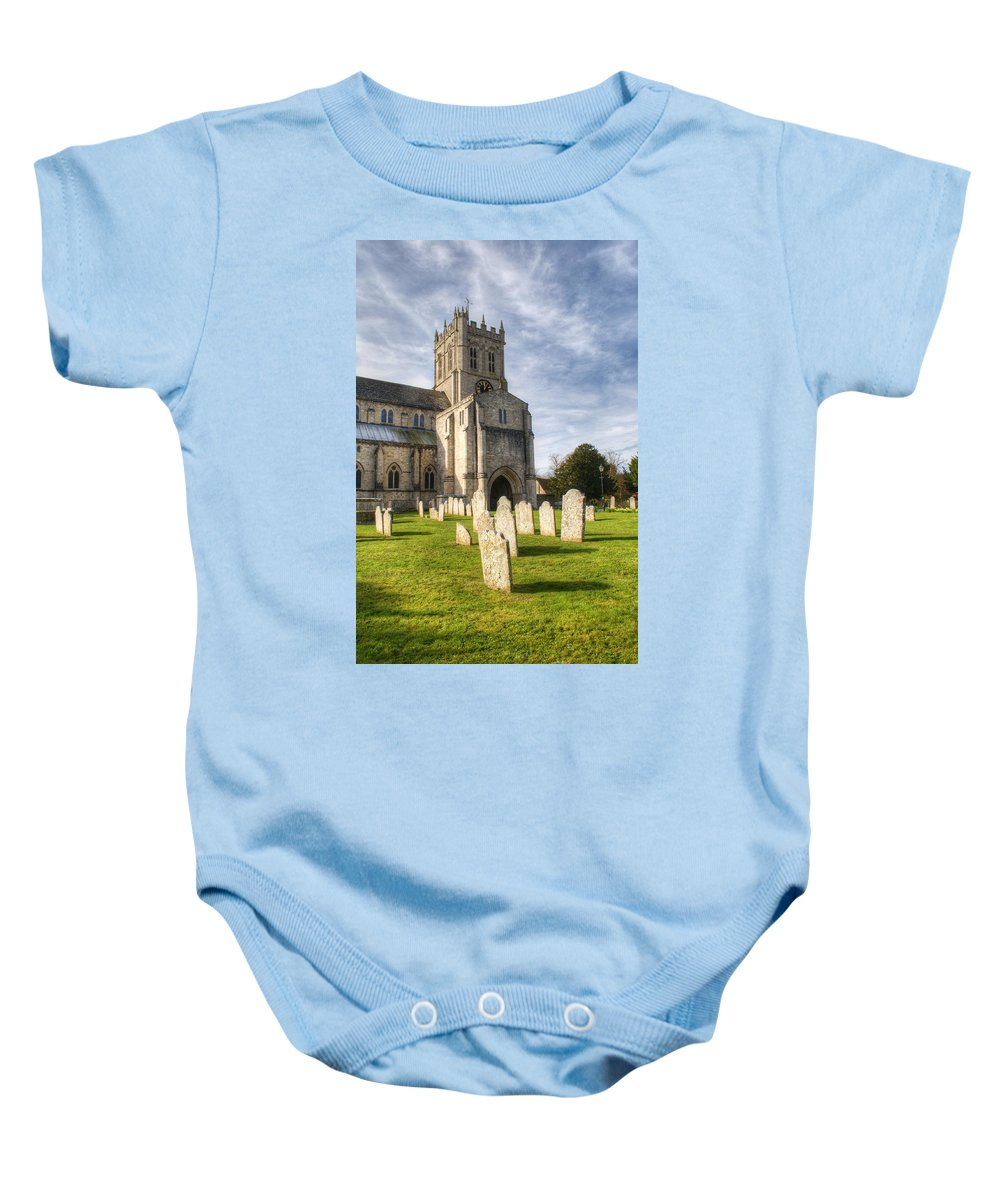 Christchurch Priory Baby Onesie featuring the photograph Christchurch Priory by Chris Day