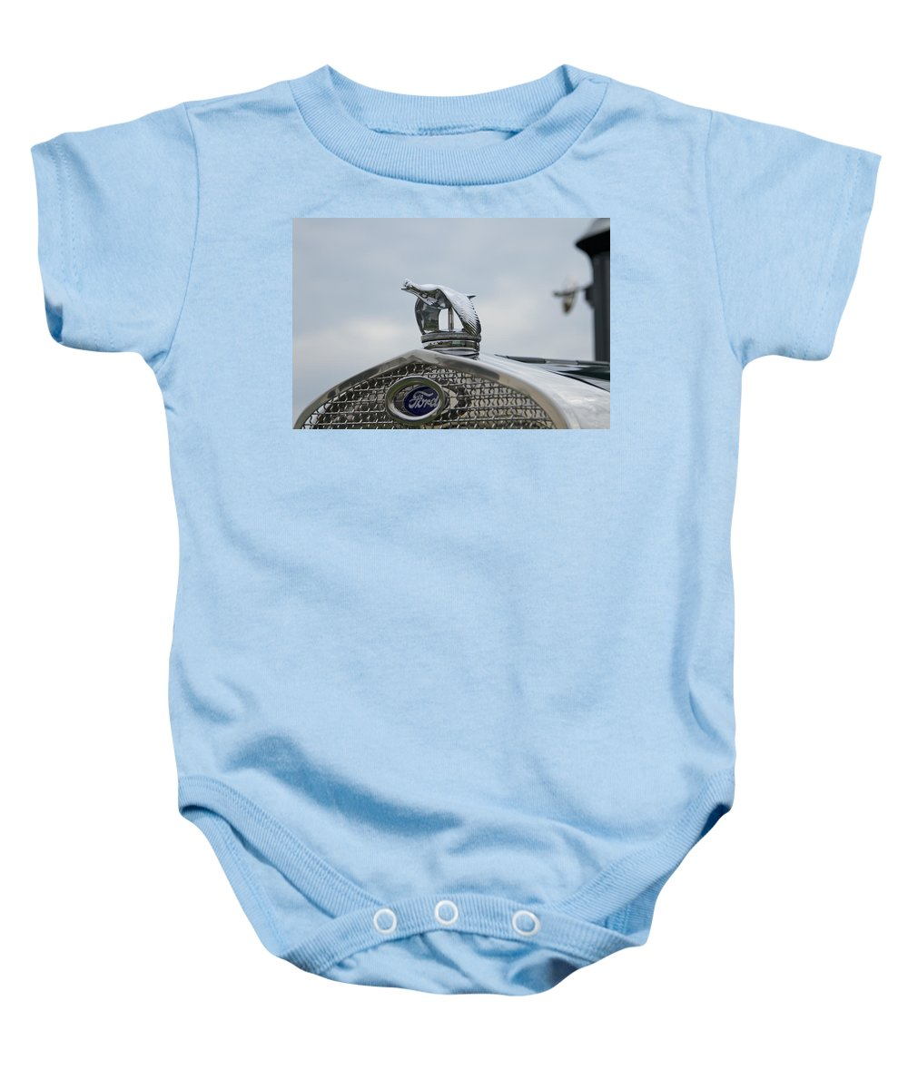 Glenmoor Baby Onesie featuring the photograph 1930 Ford Model A by Jack R Perry