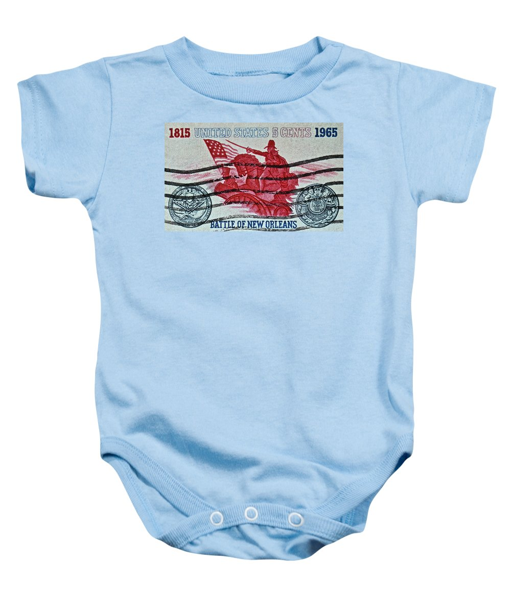 1965 Baby Onesie featuring the photograph 1965 Battle Of New Orleans Stamp by Bill Owen