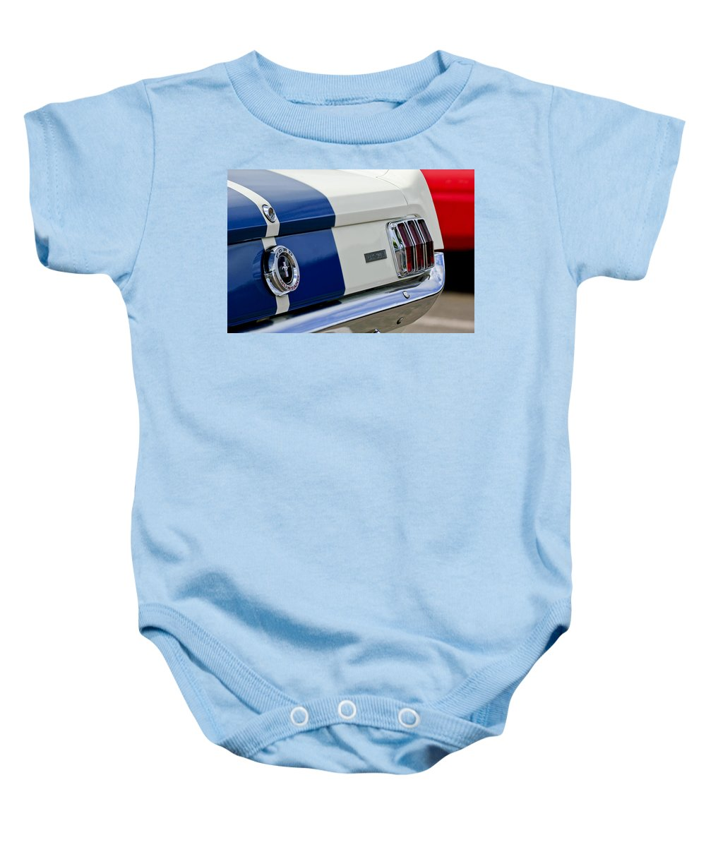 1966 Shelby Gt 350 Taillight Baby Onesie featuring the photograph 1966 Shelby Gt 350 Taillight by Jill Reger