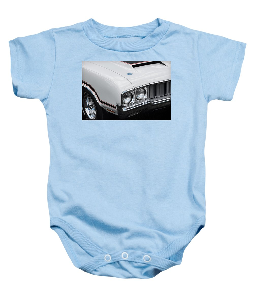 Oldsmobile Baby Onesie featuring the photograph 1970 Olds Cutlass 442 by Gordon Dean II