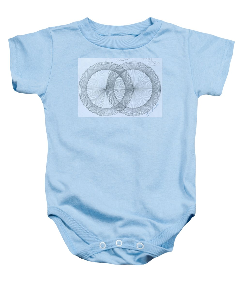 Magnet Baby Onesie featuring the drawing  Magnetism by Jason Padgett
