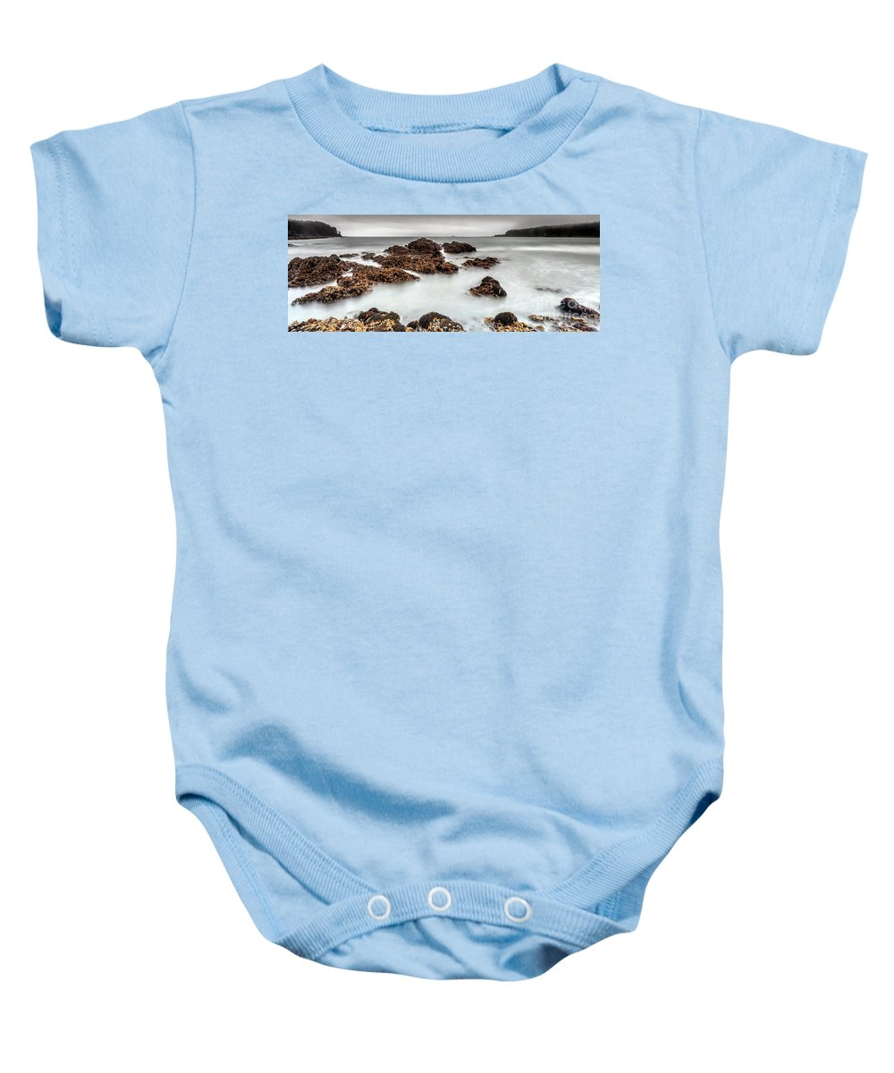 Nature Baby Onesie featuring the photograph Grey Morning by Steven Reed