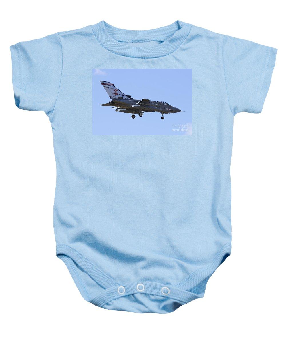 Air Show Baby Onesie featuring the digital art Raf Tornado by J Biggadike