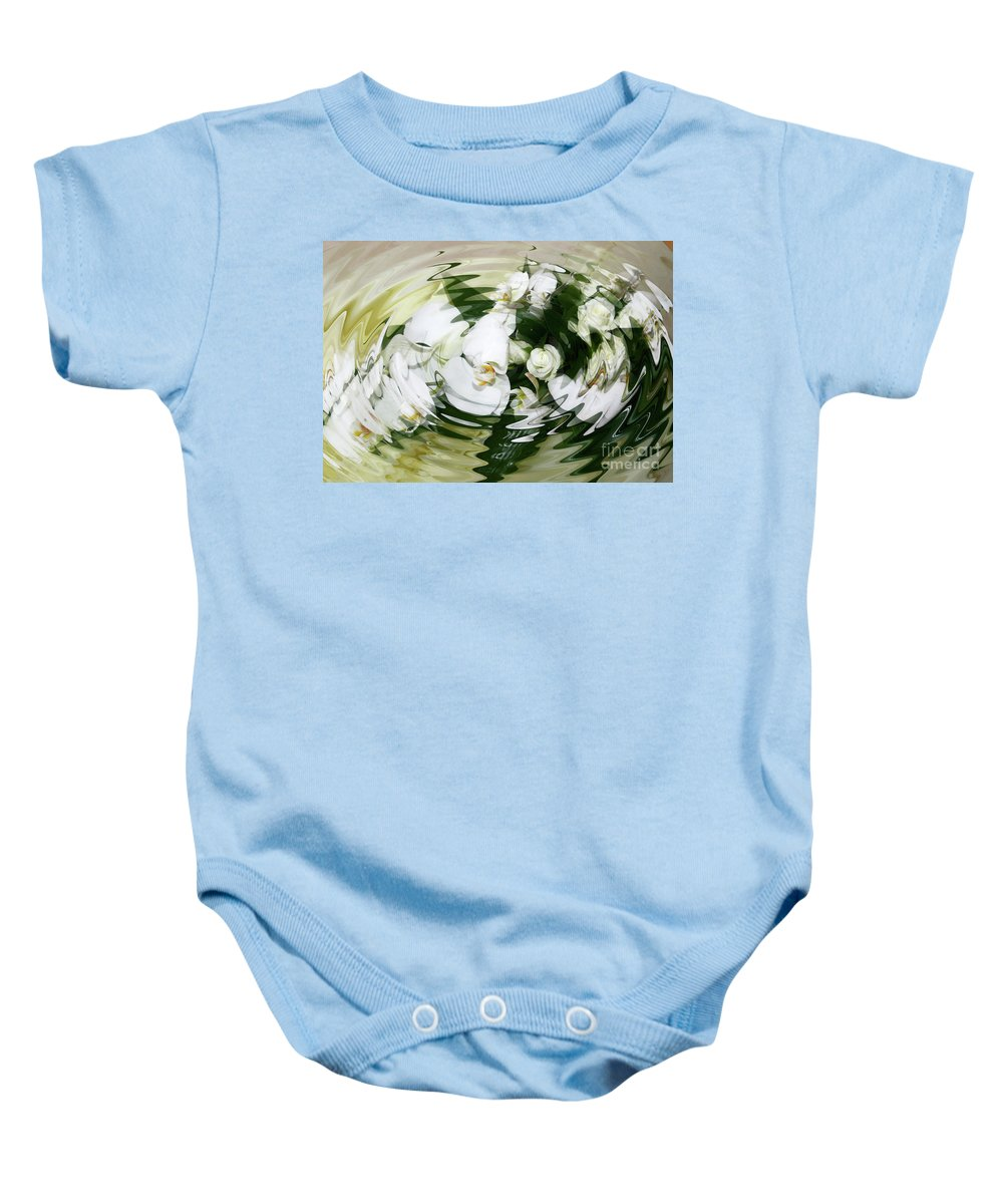 White Baby Onesie featuring the photograph Submerged by Diane Macdonald