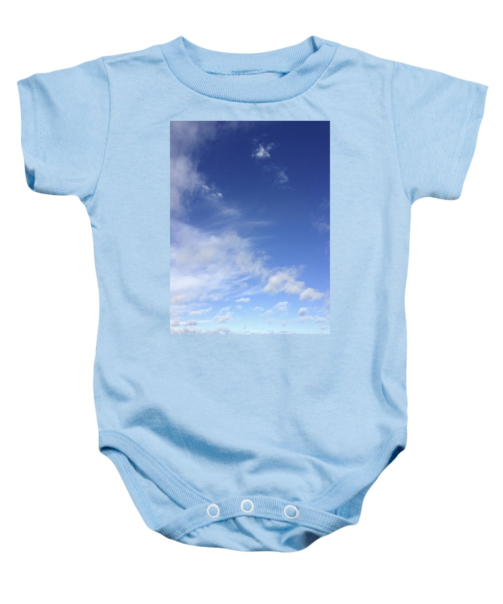 Blue Baby Onesie featuring the photograph Clouds by Les Cunliffe