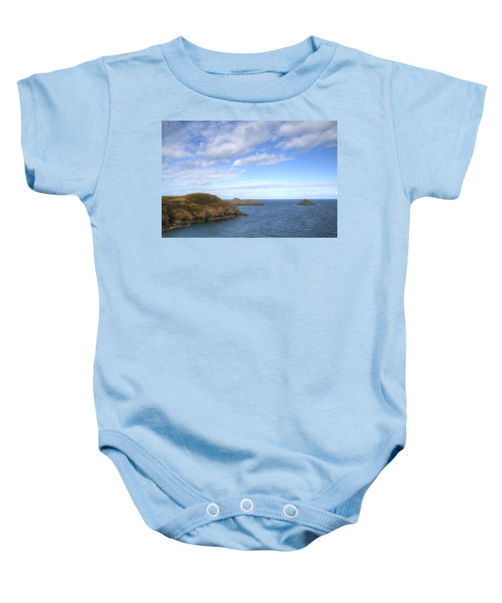 Cornwall Baby Onesie featuring the photograph Cornwall - Rumps Point by Joana Kruse