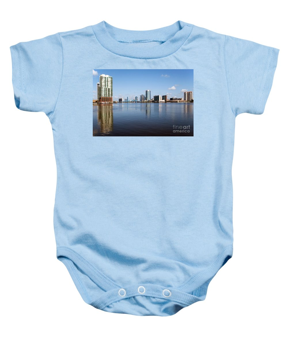 Florida Baby Onesie featuring the photograph Jacksonville Skyline by Bill Cobb