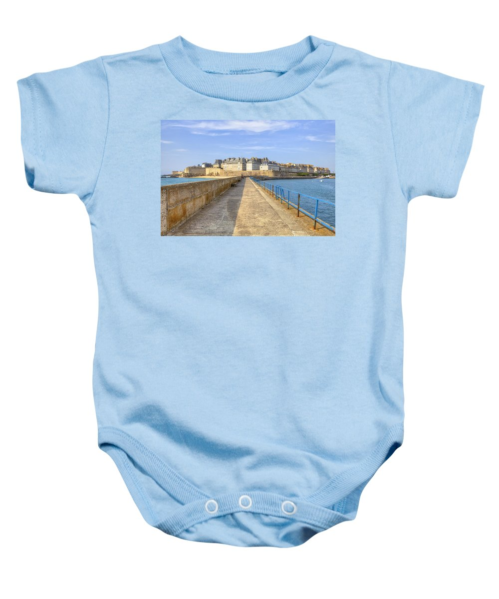 City Baby Onesie featuring the photograph Saint-malo - Brittany by Joana Kruse