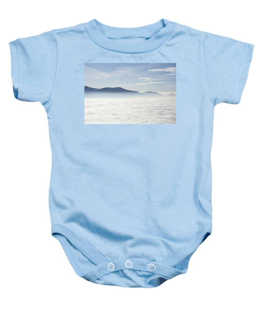 Sea Of Fog Baby Onesie featuring the photograph Sea Of Fog by Mats Silvan