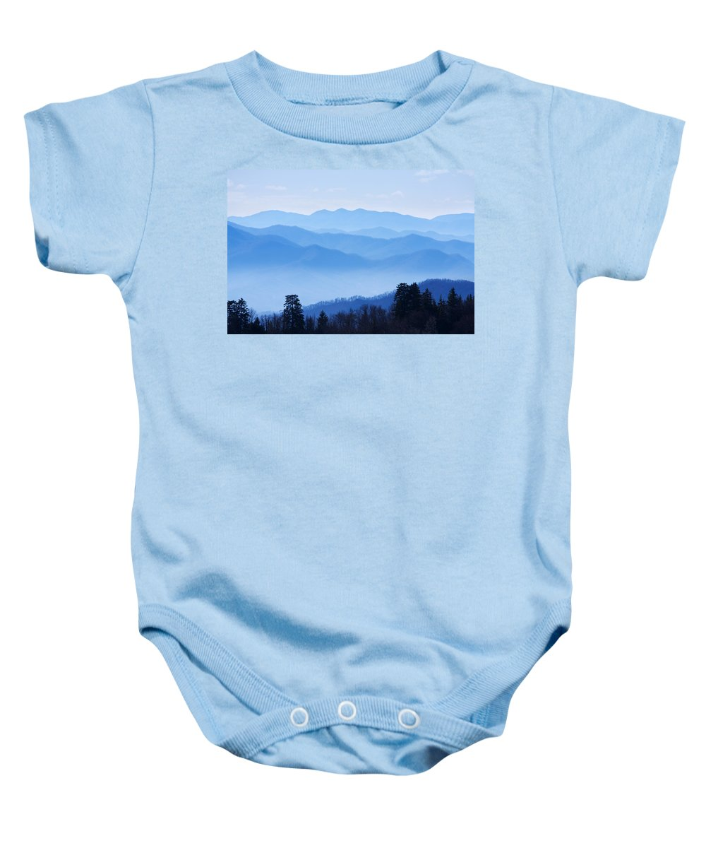 Great Smoky Mountains National Park Baby Onesie featuring the photograph Smoky Mountains by Melinda Fawver