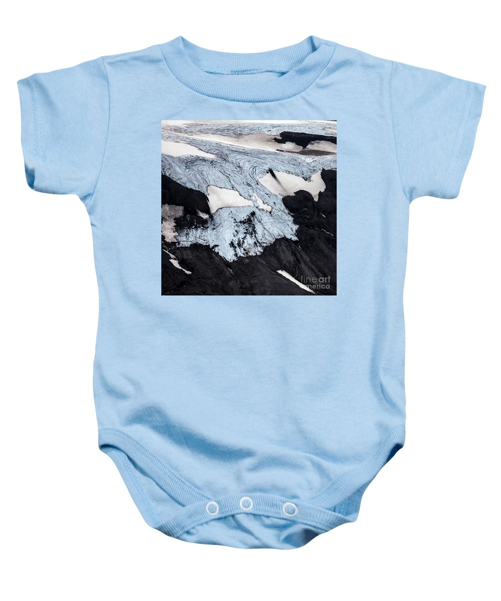 Thjosa Baby Onesie featuring the photograph Aerial Photo by Gunnar Orn Arnason