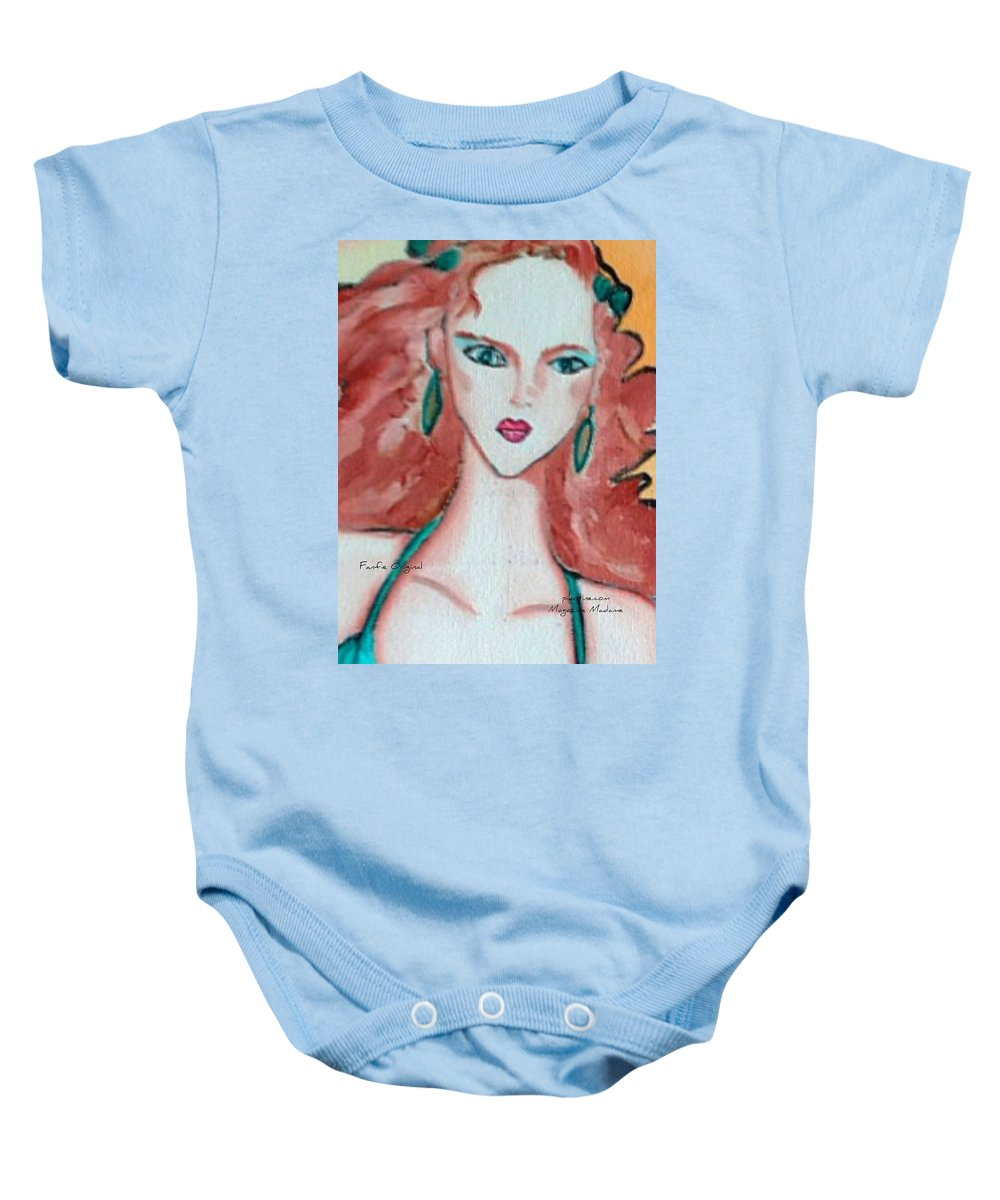 Pikotine Baby Onesie featuring the painting Pikotine Art by Pikotine Art