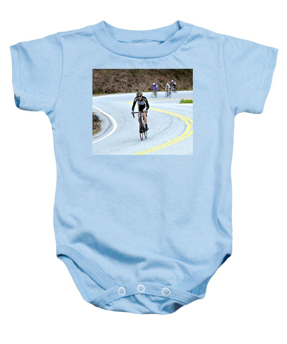 Sport Baby Onesie featuring the photograph Gran Fondo by Susan Leggett