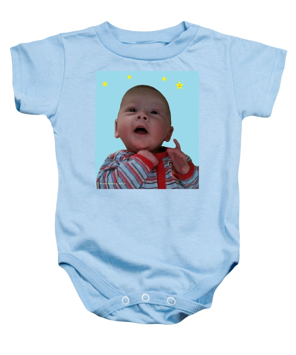 Family Baby Onesie featuring the painting Zachary by Bruce Nutting