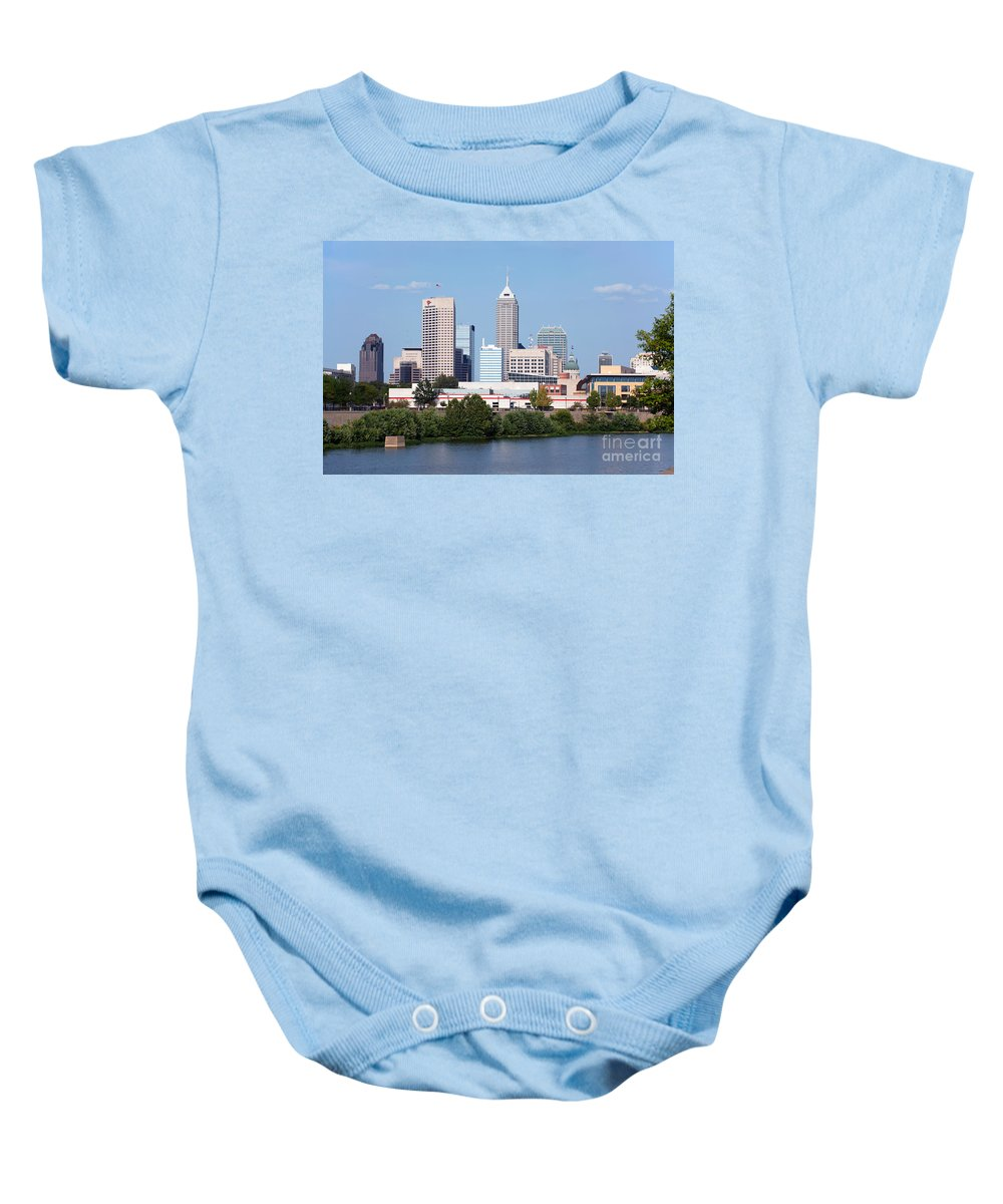 Capitol Building Baby Onesie featuring the photograph Downtown Indianpolis Indiana Skyline by Bill Cobb