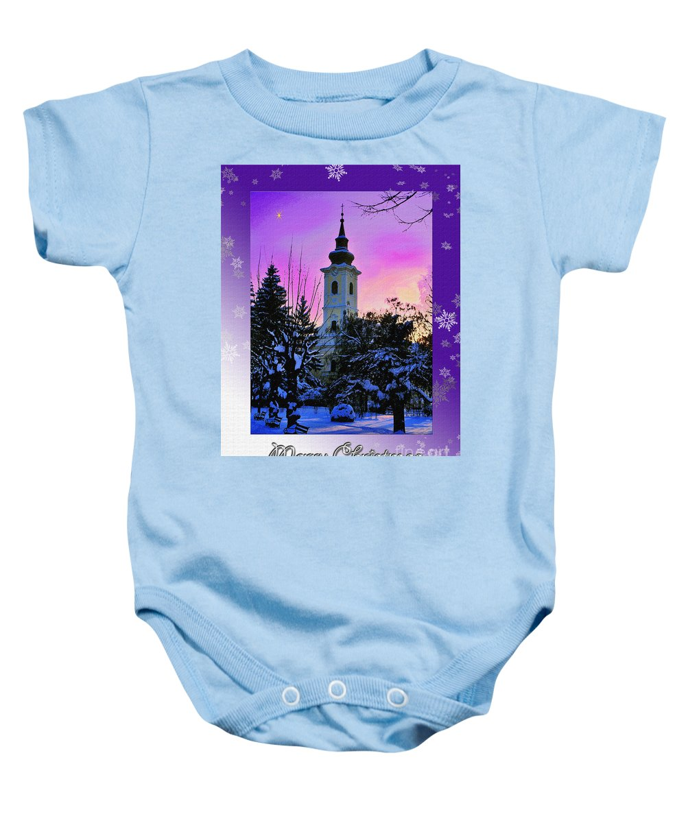 Christmas Baby Onesie featuring the photograph Christmas Card 21 by Nina Ficur Feenan