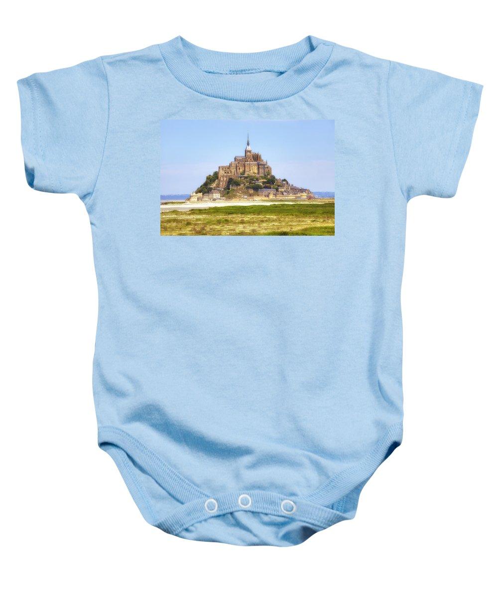 Le Mont-saint-michel Baby Onesie featuring the photograph Mont Saint-michel - Normandy by Joana Kruse