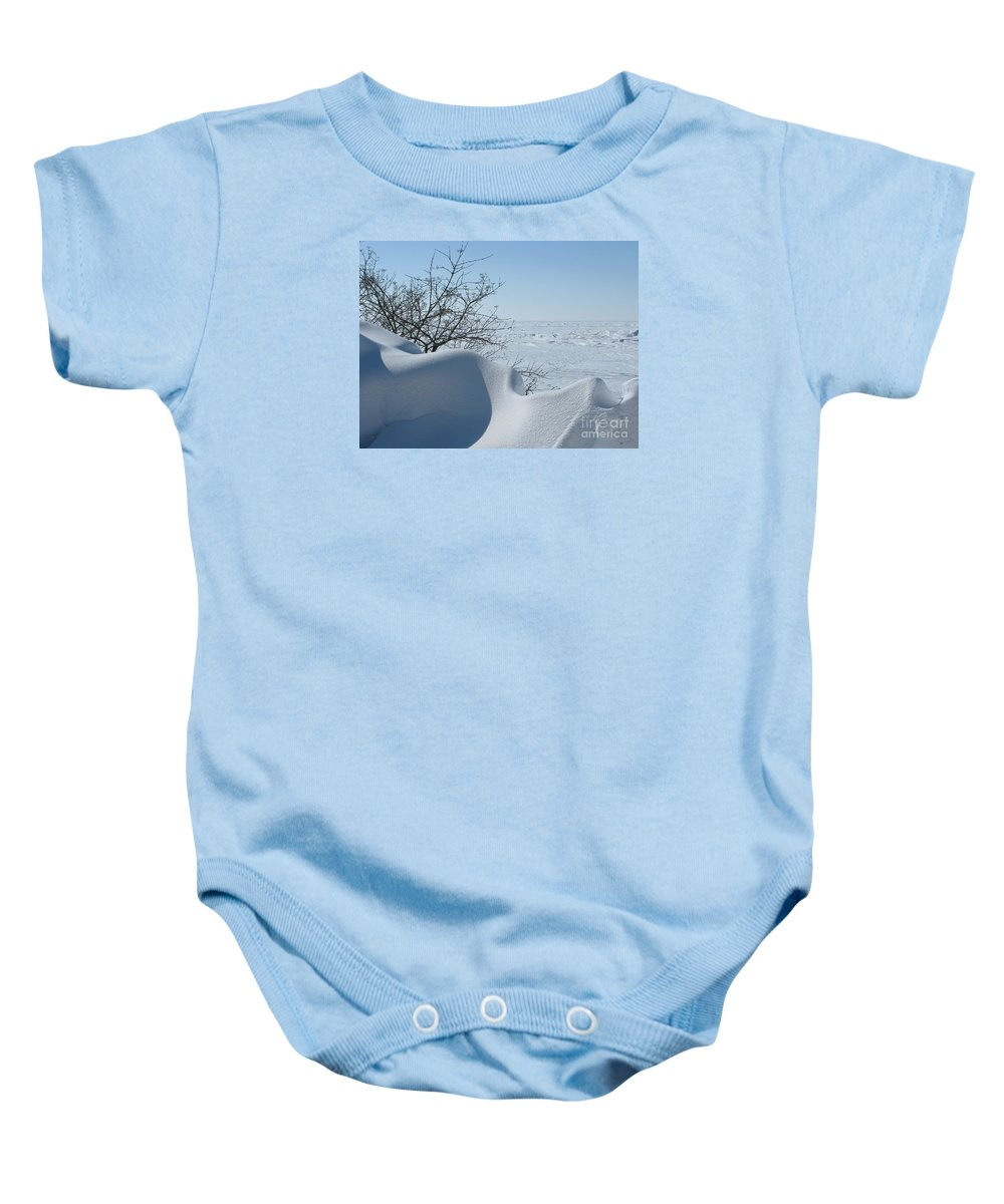 Winter Baby Onesie featuring the photograph A Gentle Beauty by Ann Horn