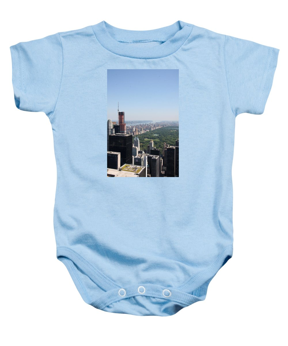 Skyscape Baby Onesie featuring the photograph A New Skyscraper In Nyc Skyline by Christiane Schulze Art And Photography