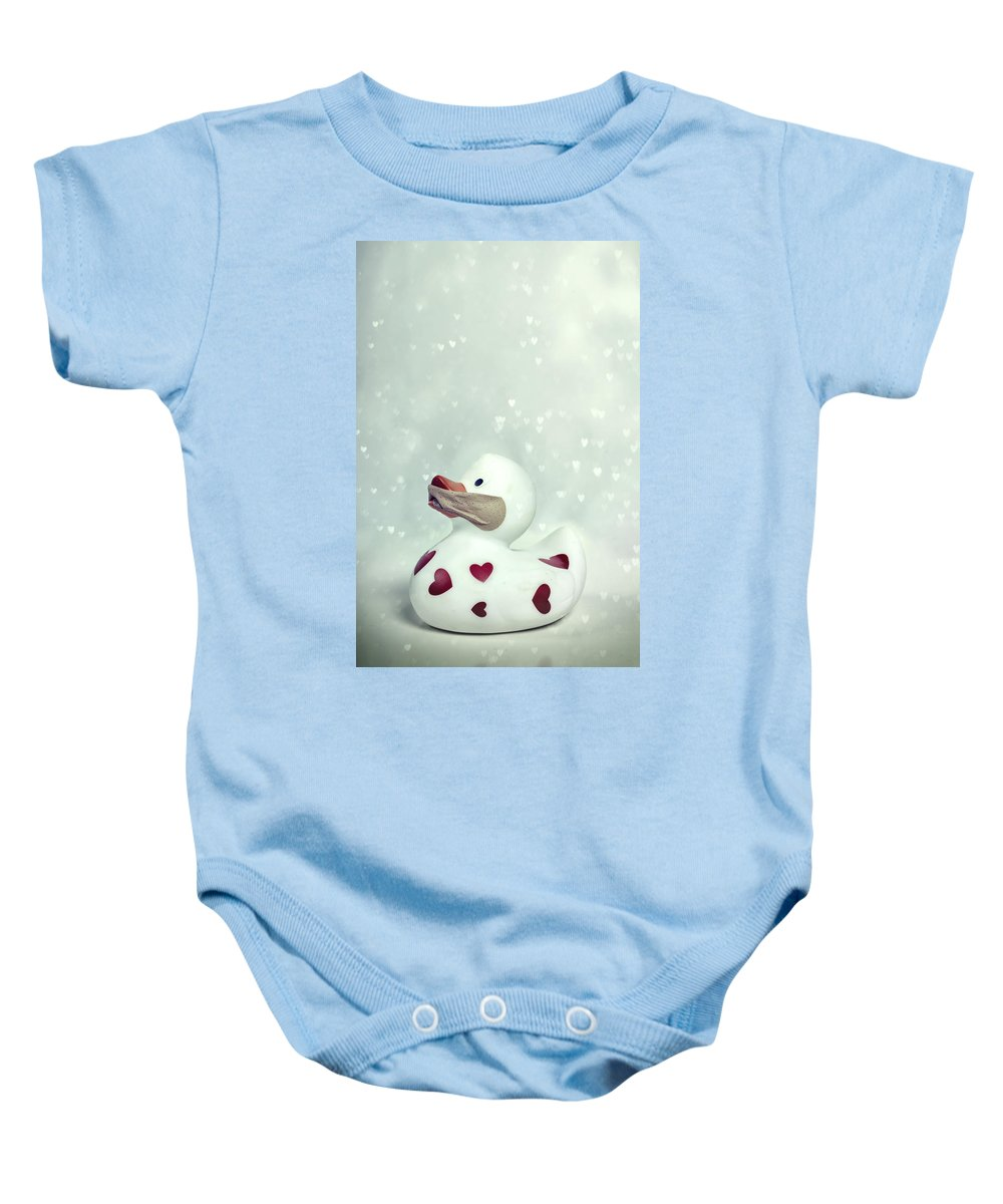 Duck Baby Onesie featuring the photograph A Shut Mouth Catches No Flies by Joana Kruse