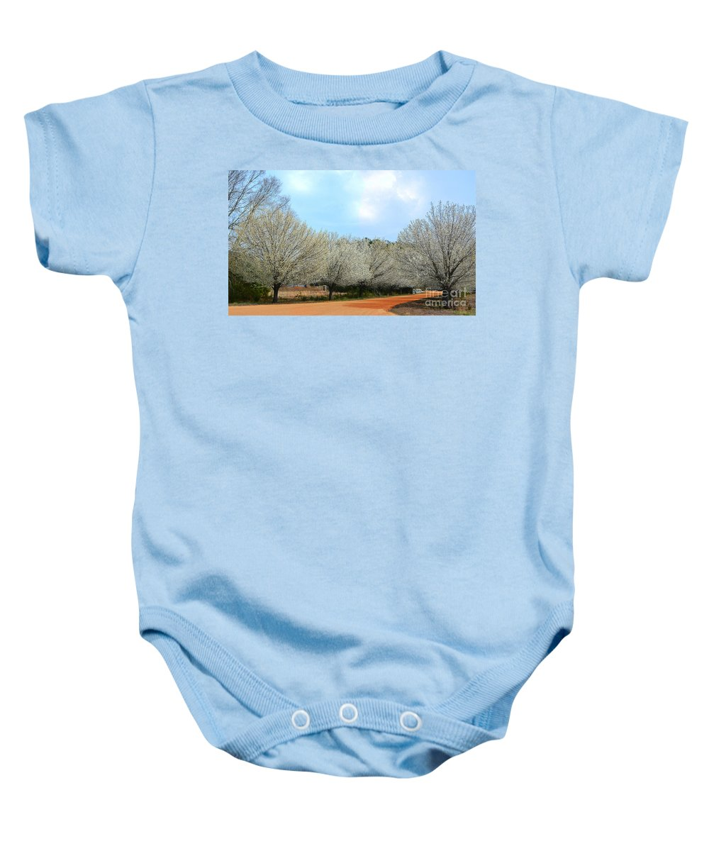 Spring Baby Onesie featuring the photograph A Touch Of Spring by Kathy Baccari