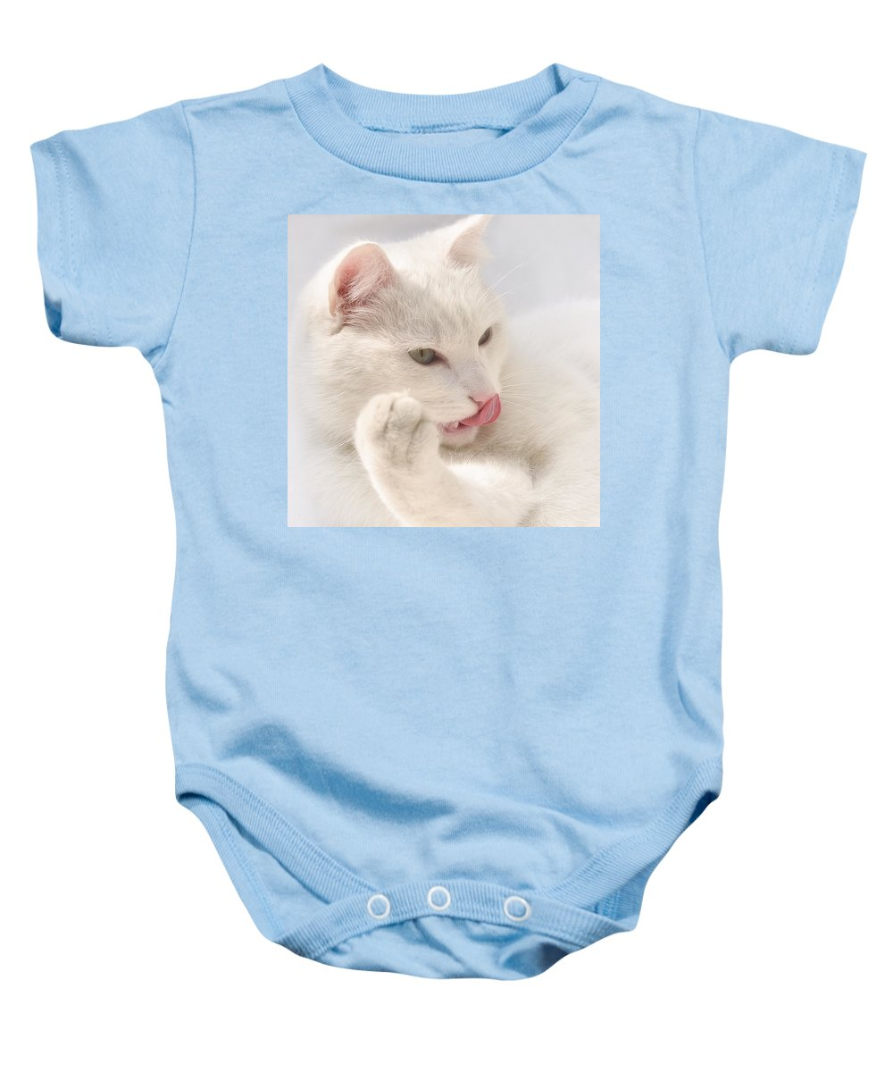 Adorable Baby Onesie featuring the photograph A White Spook by TouTouke A Y