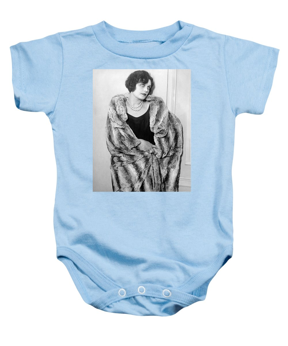 1925 Baby Onesie featuring the photograph Actress Pola Negri by Underwood Archives