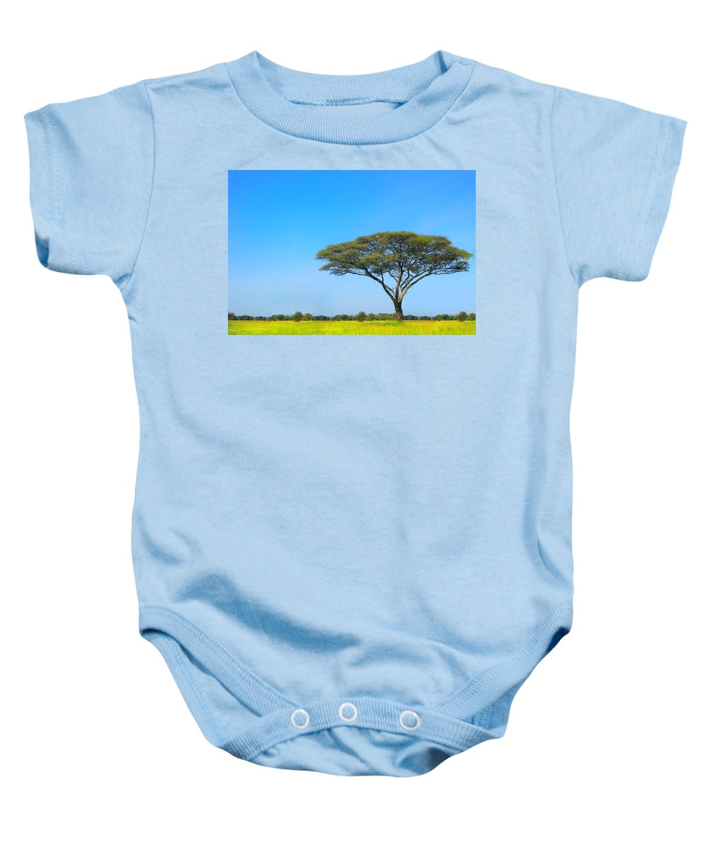 Africa Baby Onesie featuring the photograph Africa by Sebastian Musial