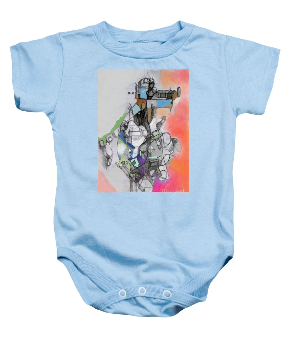 Torah Baby Onesie featuring the digital art Self-renewal 10d by David Baruch Wolk