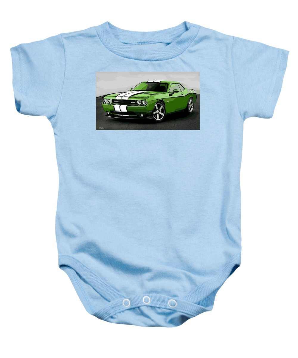 Dodge Baby Onesie featuring the photograph American Muscle by George Pedro