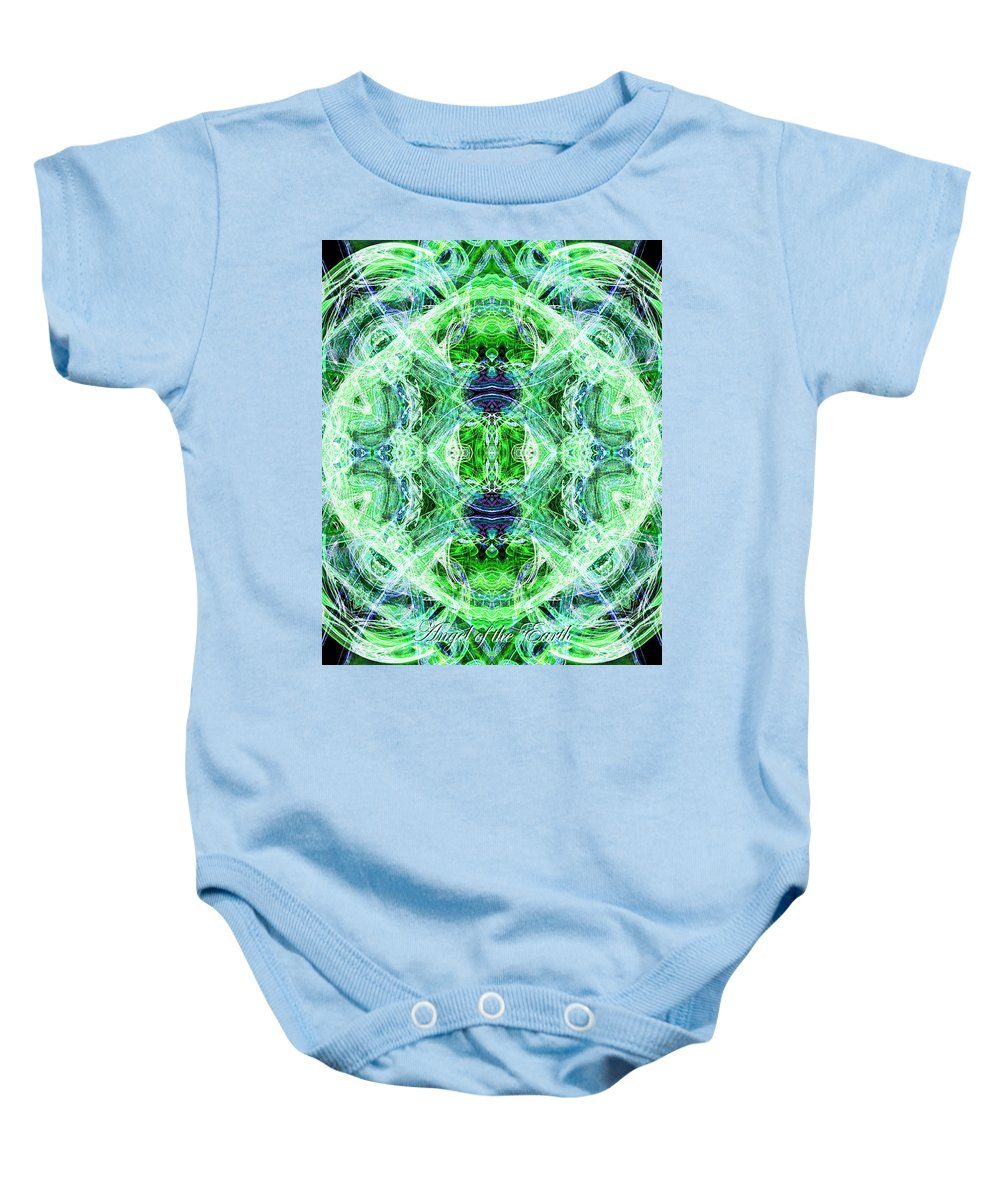 Angel Baby Onesie featuring the digital art Angel Of The Earth by Diana Haronis