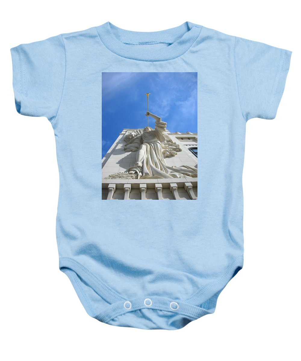 Sculptures Baby Onesie featuring the photograph Angels 2920 by Guy Whiteley