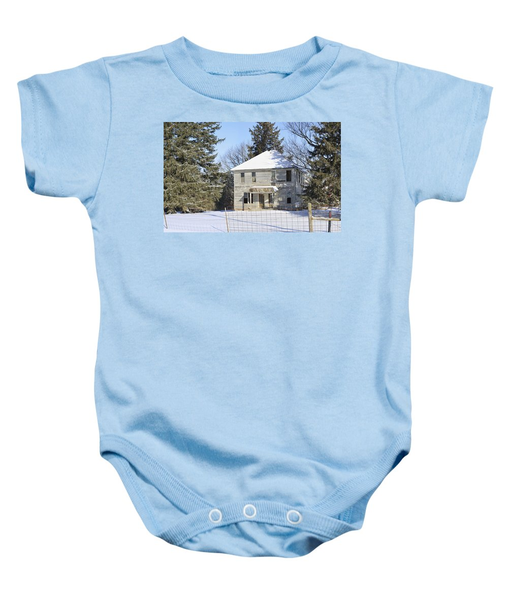 Winter Baby Onesie featuring the photograph Another Lonely Winter by Bonfire Photography