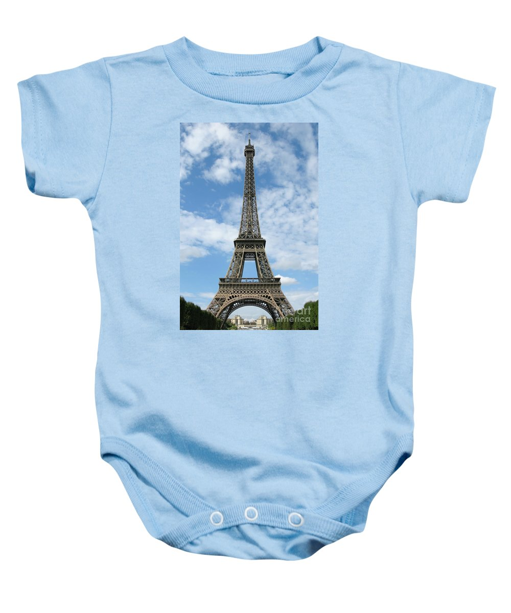 Paris Baby Onesie featuring the photograph Architectural Standout by Ann Horn