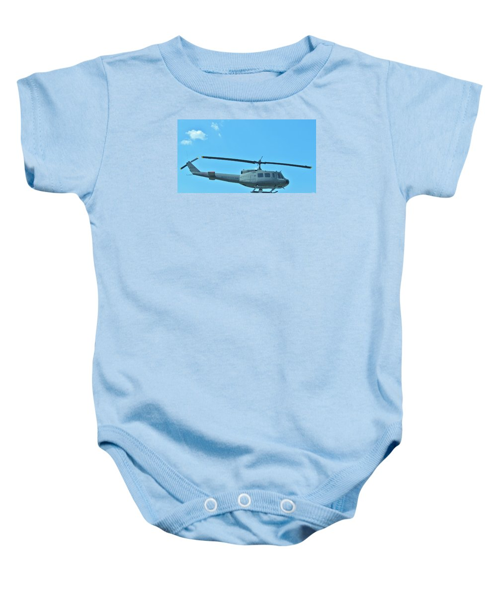Helicopters.helicopter Pictures Posters Paintings Photographs Greeting Cards Baby Onesie featuring the photograph Army Helicopter by Donna Wilson
