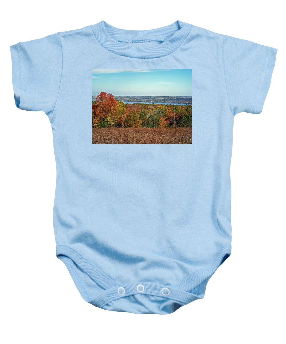Autumn Baby Onesie featuring the photograph Autumn Glory by Aimee L Maher ALM GALLERY