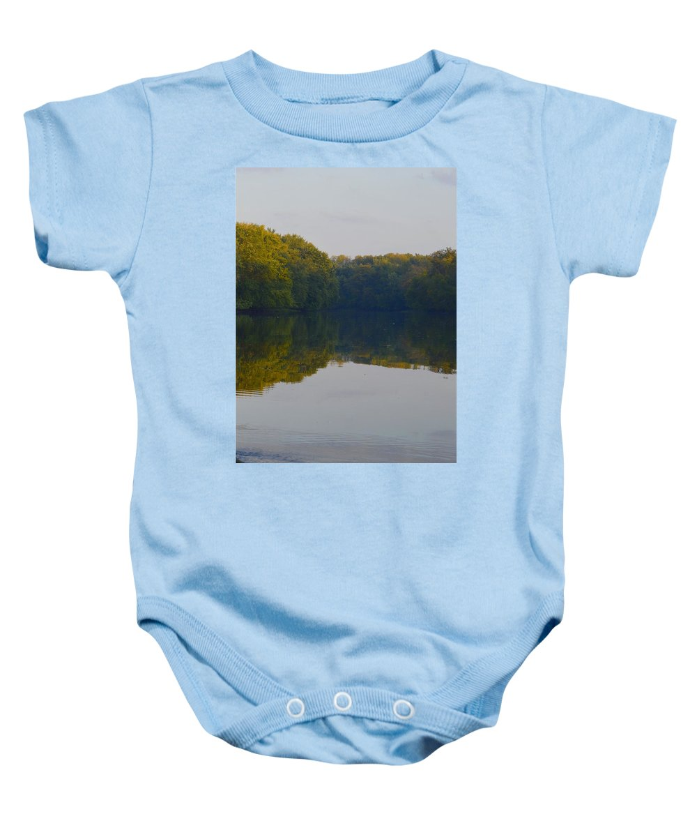 Environment Baby Onesie featuring the photograph Autumn Shell Rock Panel 3 by Bonfire Photography