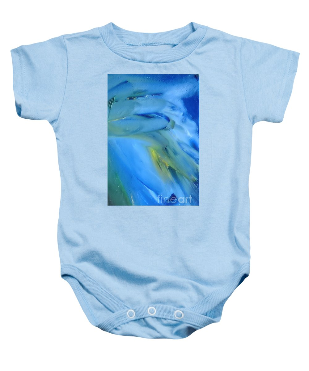 Modern Baby Onesie featuring the painting Azul by Reina Resto
