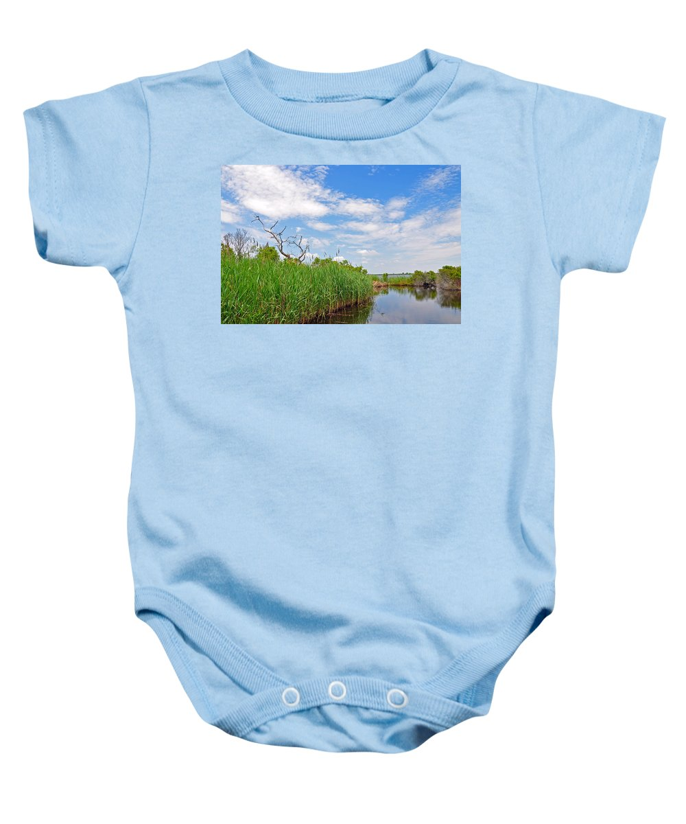Landscapes Baby Onesie featuring the photograph Back Bay In Color by MCM Photography