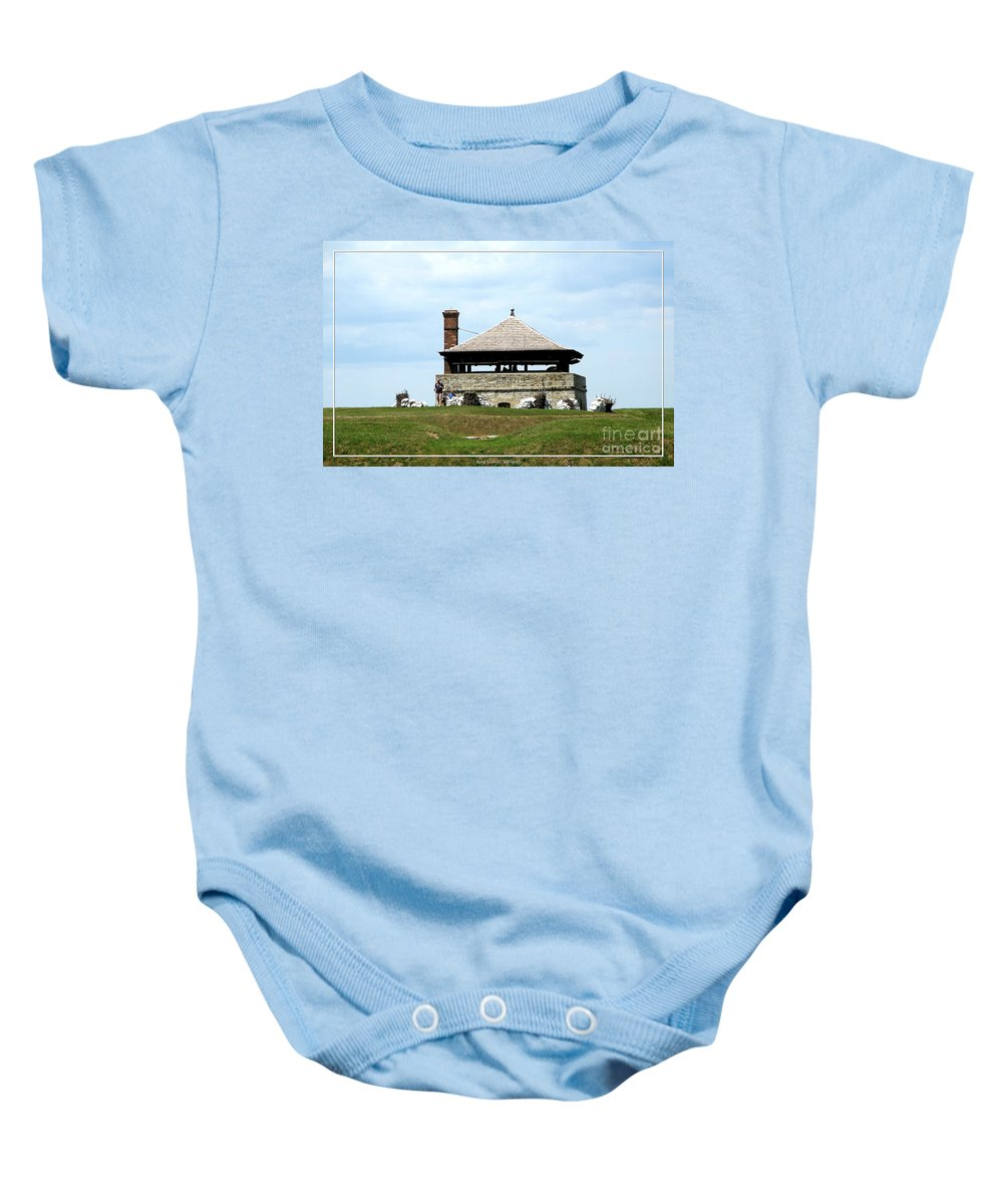 Bake House Baby Onesie featuring the photograph Bake House At Old Fort Niagara 2 by Rose Santuci-Sofranko