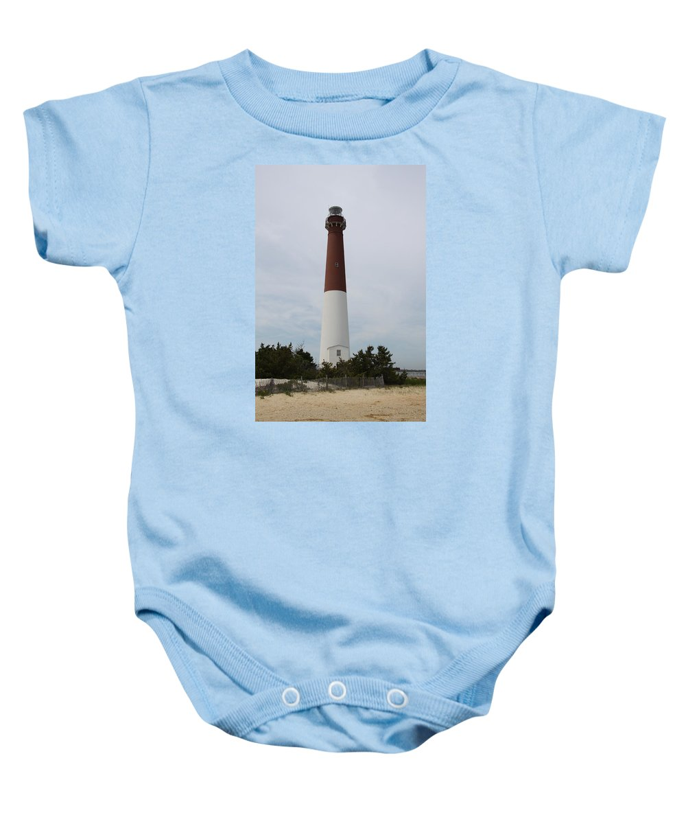 Lighthouse Baby Onesie featuring the photograph Barnegat Lighthouse by Christiane Schulze Art And Photography