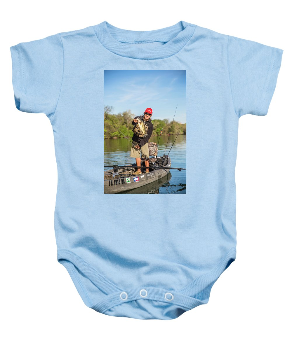 Enjoyment Baby Onesie featuring the photograph Bass Caught In Austin Texas by Dustin Doskocil